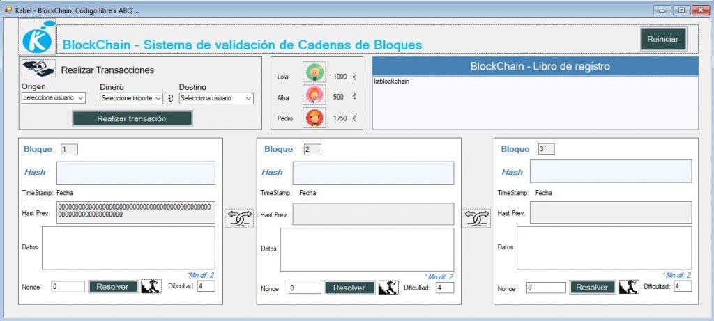 Artefacto Blockchain Kabel